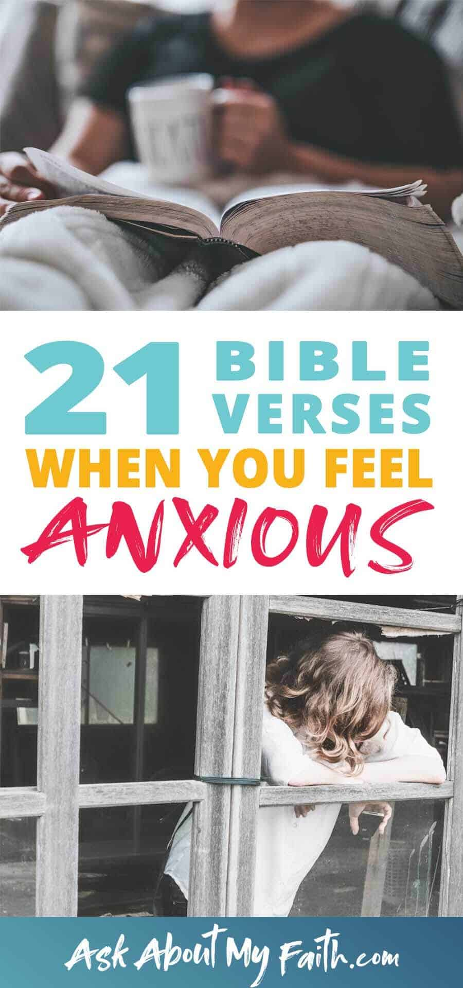 21 Bible Verses When You Feel Worried or Anxious | Bible Study | Christian Faith Resources